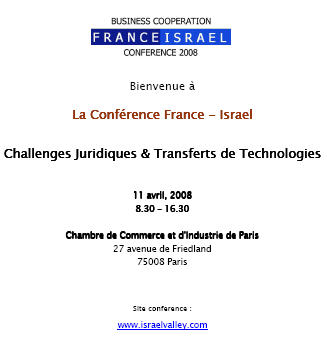 Business Cooperation France Israel Valley