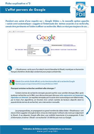 L'effet pervers de Google