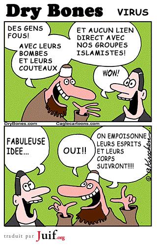 Le virus islamiste - © Dry Bones
